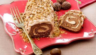 Tadıyla mest eden lezzet: Kestaneli rulo pasta