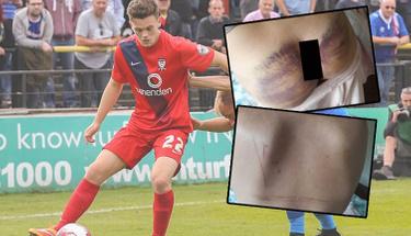 Ünlu futbolcu işkenceci çıktı demir çubukla dövüp yerdeki boyaları...