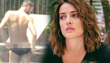 İrem Sak'ın erkek arkadaşı havuz başında çırılçıplak soyundu!