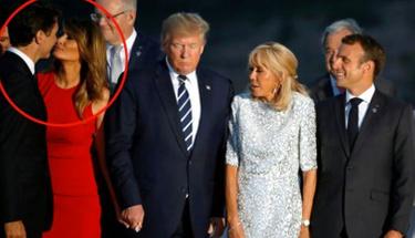 G-7 zirvesine Melania ve Kanada başbakanı'nın öpüşmesi damga vurdu!