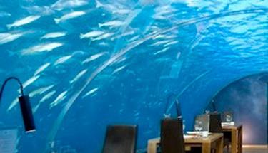 Su altında bir otel odası