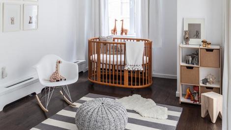 Bebeğiniz için yuvarlak karyola modelleri