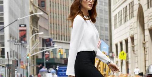 Sokak modasında iş kadını kombinleri!