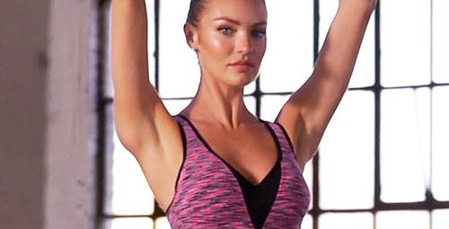 Candice Swanepoel'den etkili bacak egzersizleri!