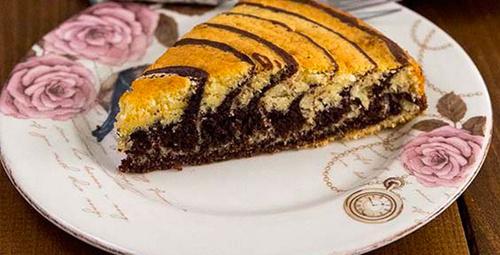 Çay saati için zebra kek tarifi!