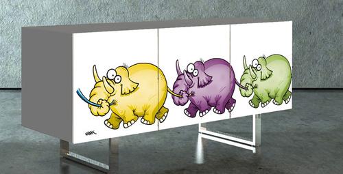 Erdil Yaşaroğlu çizimleri bu kez mobilyalarda!
