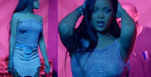 Rihanna seksi klibiyle olay oldu!