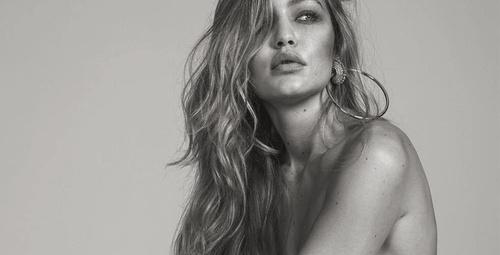 Ünlü model Gigi Hadid soyundu!
