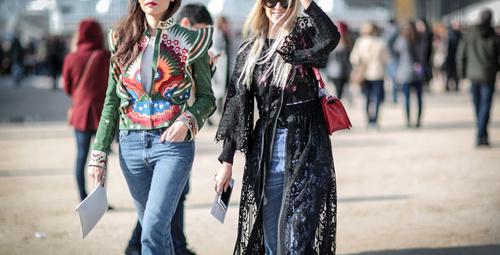 Paris Moda Haftası'ndan sokak modası!