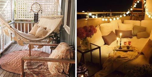 Yaz için şık ve rahat balkon dekorasyonları!