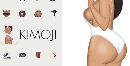 Kim Kardashian'dan şaplaklı kimoji!