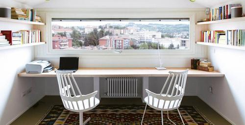 Küçük evler için çalışma odası dekorasyon fikirleri