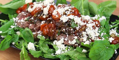 Sıradışı bir lezzet; vinaigretta soslu antrikot salatası