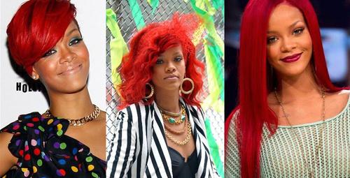 Dünden bugüne Rihanna'nın saçları!