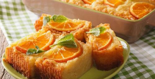 Muhteşem kokan portakallı irmik kek!
