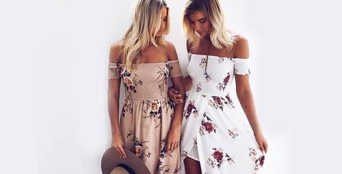 Yazı floral elbiselerle karşılayın!