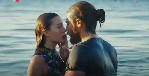 Erkenci Kuş'un yeni bölümünde Sanem ile Can öpüşüyor
