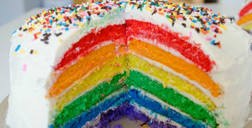Renkleriyle içiniz açılacak: Gökkuşağı pasta