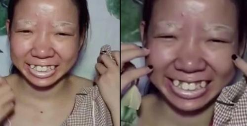 Çin'li genç kadın Qi Huahua'nın makyajla değişim videosu olay