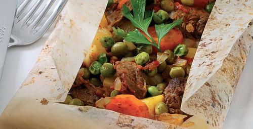 Sebze ve et bir arada: Kağıt kebabı