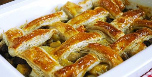 Sofrada yeni lezzet: Milföy hamurlu et yemeği tarifi
