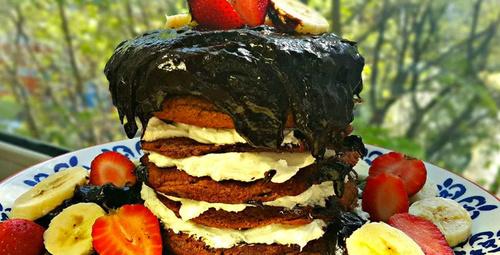 Bu tadı unutamayacaksınız: Pankek pasta