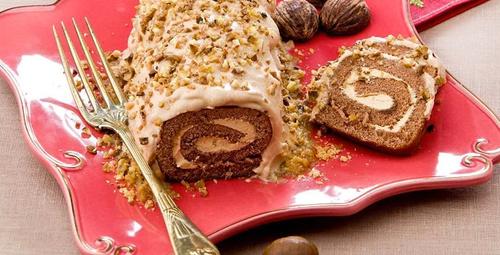 Benzersiz bir tat: Kestaneli rulo pasta