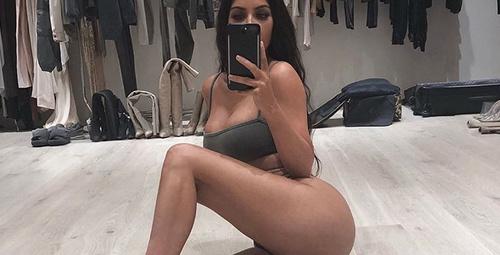Kim Kardashian'ın makyajsız halini görenler 'yok artık' diyor!