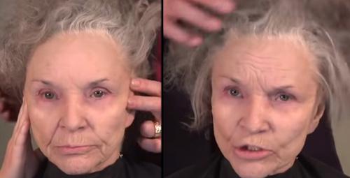 Yok artık! Ünlü makyaj ustasının annesi kendini baştan yarattı