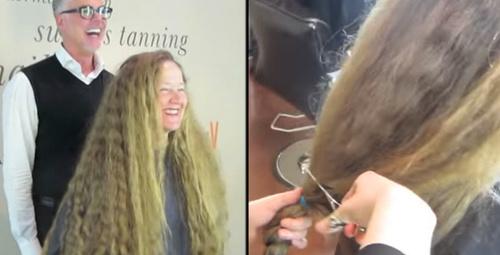 20 yıl sonra saçını ilk kez değiştirdi yeni hali inanılmaz!