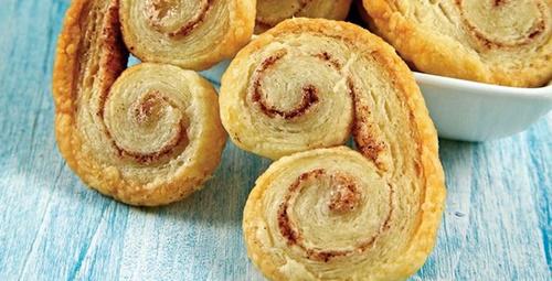 Sadece 3 malzemeli: Palmier kurabiye