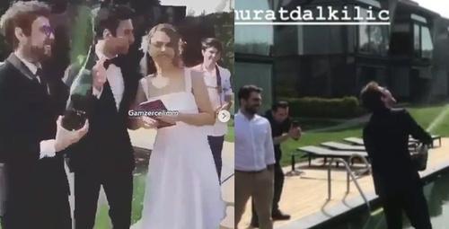Gamze Erçel'in nikahına Murat Dalkılıç'ın bu görüntüleri damga vurdu!