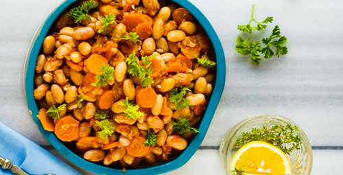 Lezzetli ve hafif: Sebzeli barbunya yemeği