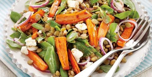Yazın midenizi hafifletecek: Mercimekli semizotu salatası