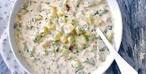Yazın içinizi ferahlatacak: Kabaklı soğuk çorba tarifi