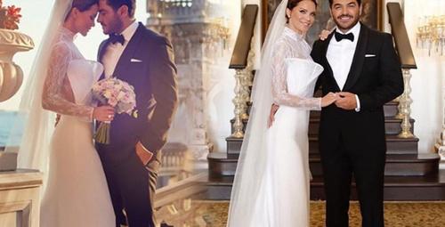 Ebru Şallı ve uğur Akkuş evlendi yüzüğü servet değerinde!