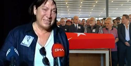 yakın arkadaşı Ünlüoğlu'nun cenazesinde göz yaşlarına boğuldu!
