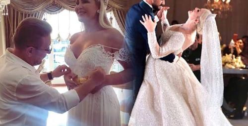 Selin Ciğerci'nin düğününde ortalık karıştı birbirlerini ezdiler!