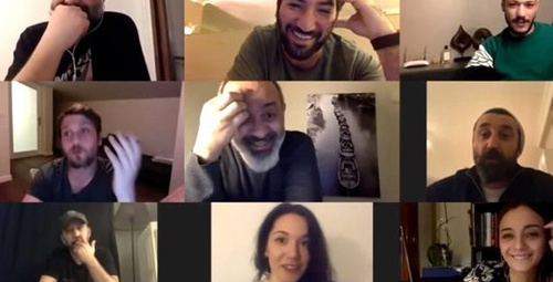 Efsane dizi Çukur'un oyuncuları evlerinden canlı yayın yaptı!