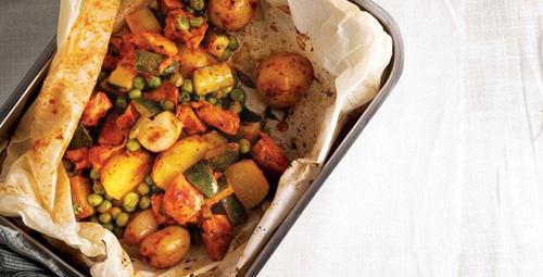 Sebze ve et birarada: Tavuklu kağıt kebabı