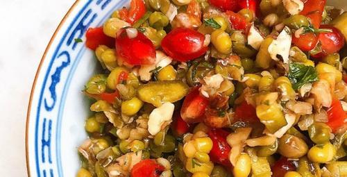 Hem doyurucu hem lezzetli: Maş fasülye salatası