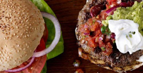 Kişiye özel hamburger ve salata
