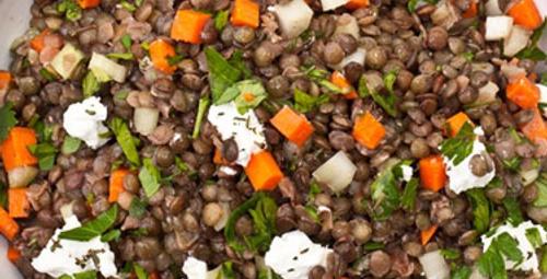 Diyet menüsü: Yeşil Mercimek Salatası
