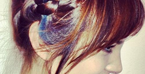Alexa Chung'ın gökkuşağı saçları!