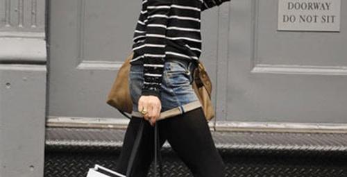 Jean şortlar ve sokak modası!