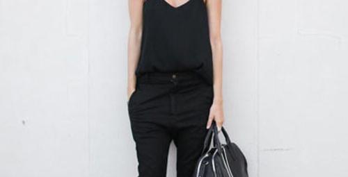 Sokak modası : Baştan aşağı siyah!