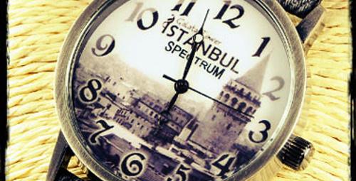 İstanbul motifli saatler!
