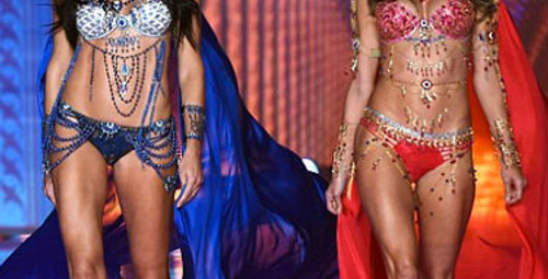 Adriana Lima ve meleklerden baş döndüren şov!