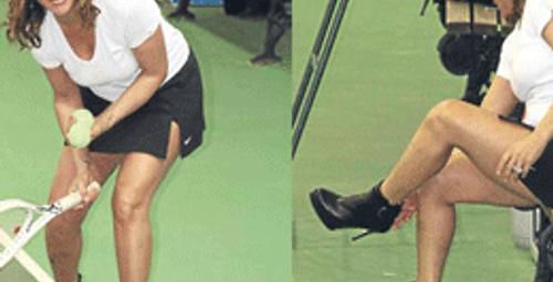 İşte onun gerçek bacakları!