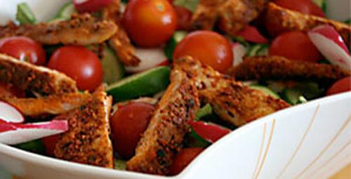 Baharatlı Tavuk Salatası